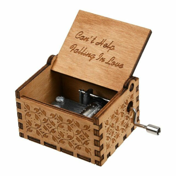 Can't help Falling in Love - Engraved Wooden Music Box