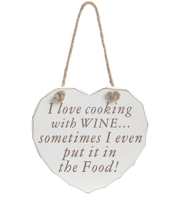 Cooking with Wine - Shabby Chic Plaque