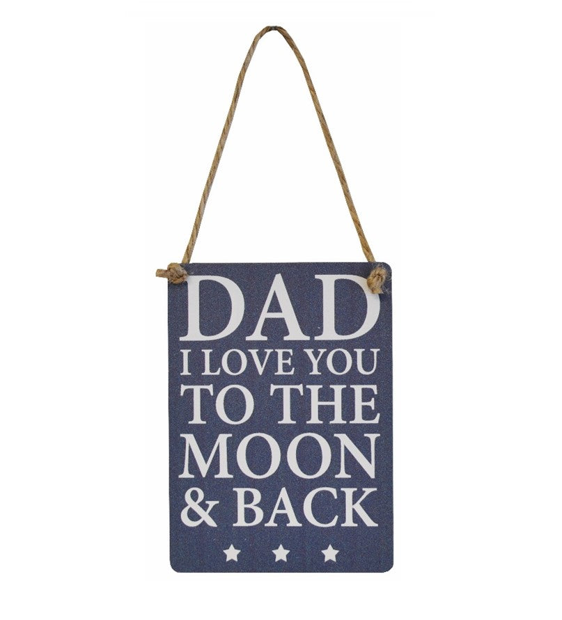 Mini Metal Sign - Dad Moon and Back