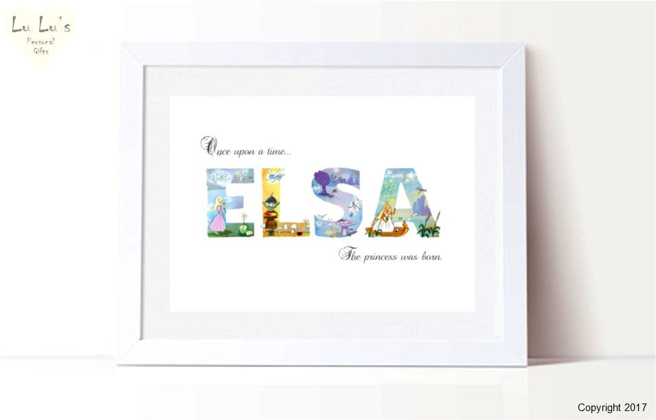 Baby / Child Fairy Tale - Girl Princess Name Framed Print
