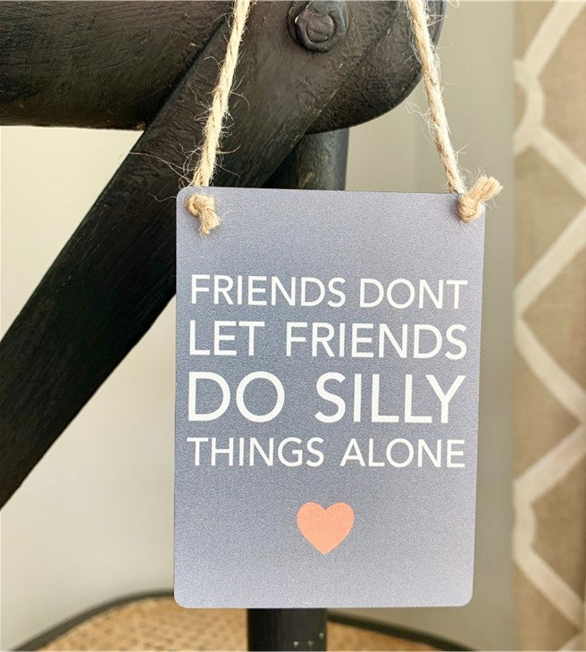 Mini Metal Sign - Friends silly things