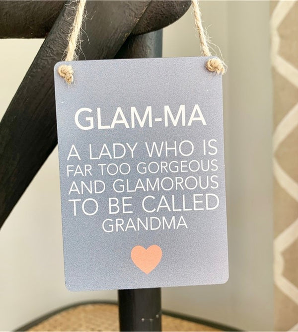Mini Metal Sign - Glam-ma