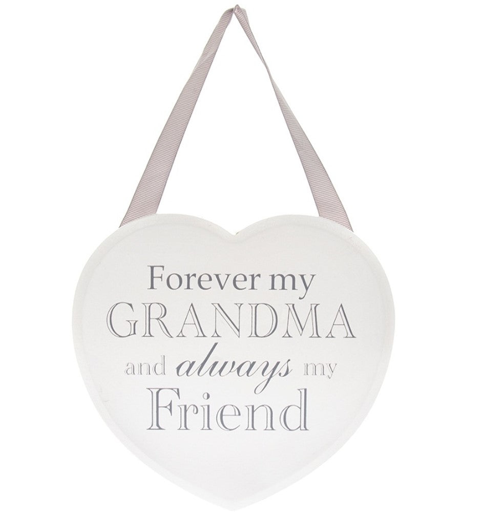 Forever my Grandma - White Heart Plaque