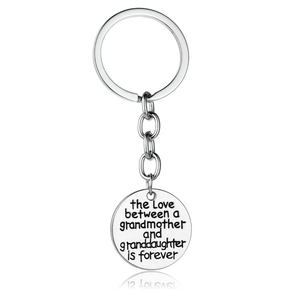 The Love between a Grandmother and Grandaughter / Grandson Keyring