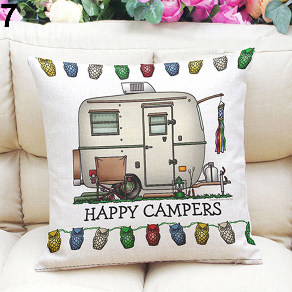 Happy Campers Cushion - 5 Styles