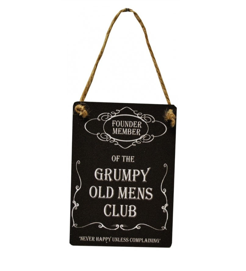 Mini Metal Sign - Grumpy Old Mens Club