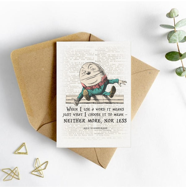 Alice in Wonderland Picture Card - Humpty Dumpty