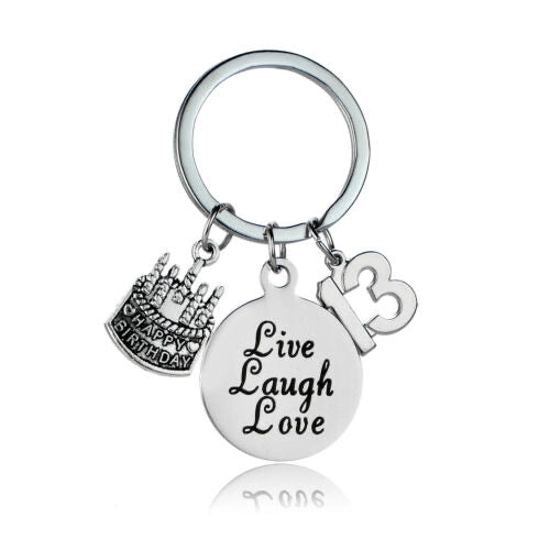 13th Birthday Keepsake Keyring