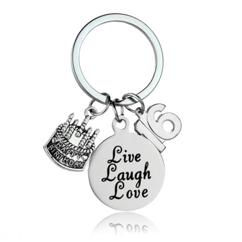 16th Birthday Keepsake Keyring