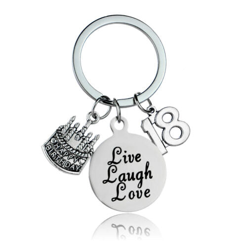 Birthday Keepsake Keyring - 18th