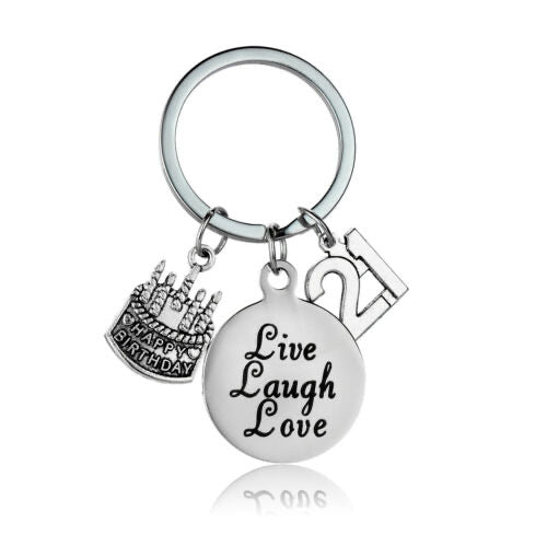 21st Birthday Keepsake Keyring