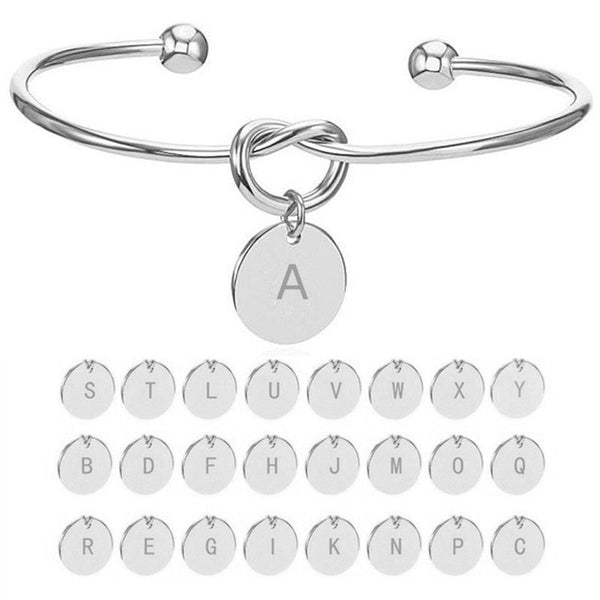 Personalised Initial Knot Bangle