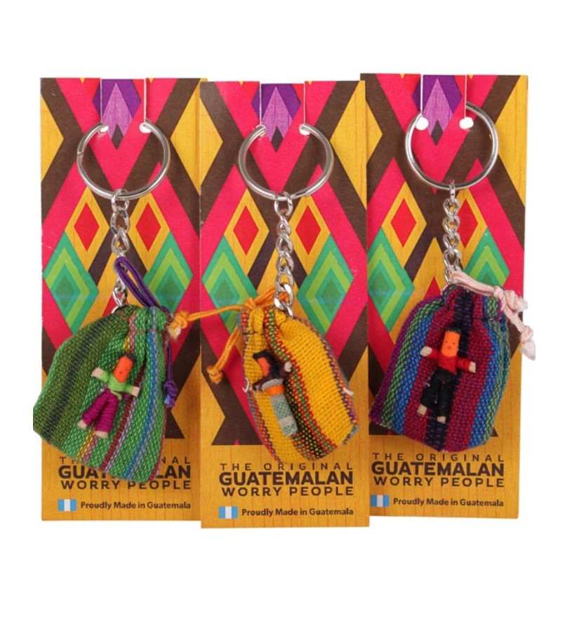 Guatemalan Worry People - Keyring