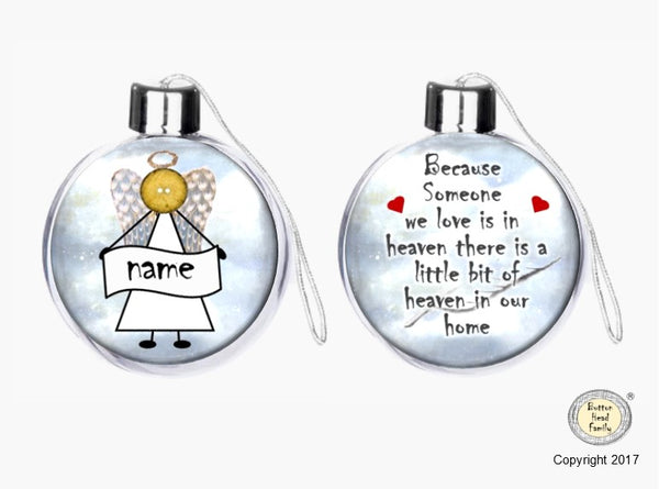 Button Head Family - In Loving Memory - Memorial Personalised Bauble