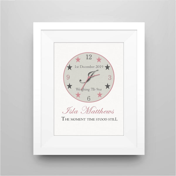 Personalised New Baby Moment in Time - Framed Print