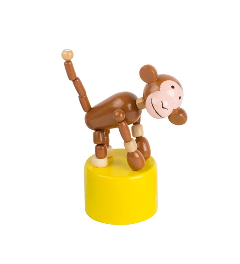 Dancing wooden monkey toy