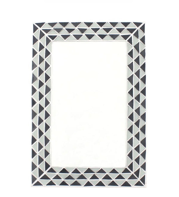 Rectangle Monochrome Mosaic Mirror