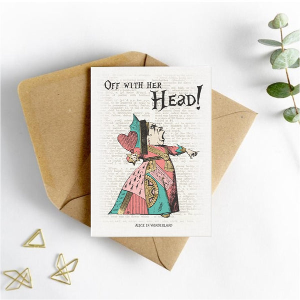 Alice in Wonderland Picture Card - Off with her Head
