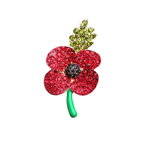 Remembrance Poppy Brooch *