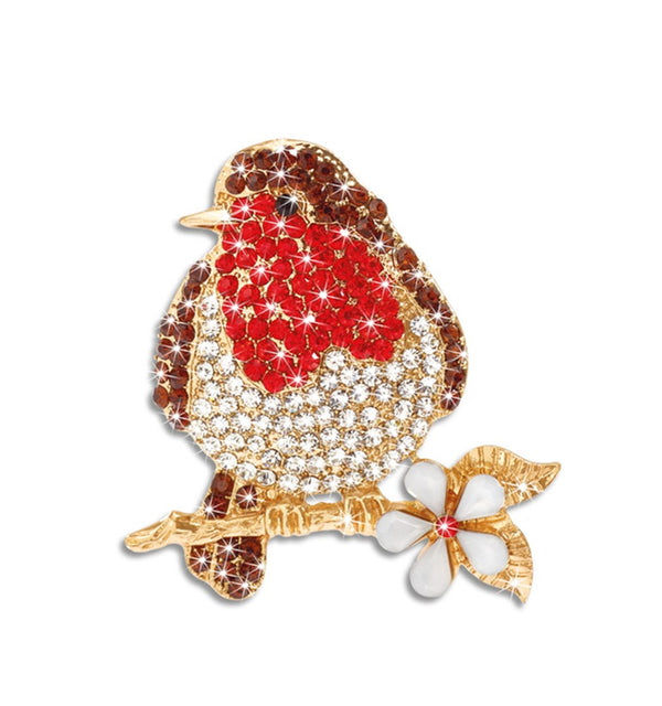 Robin Red Breast Brooch