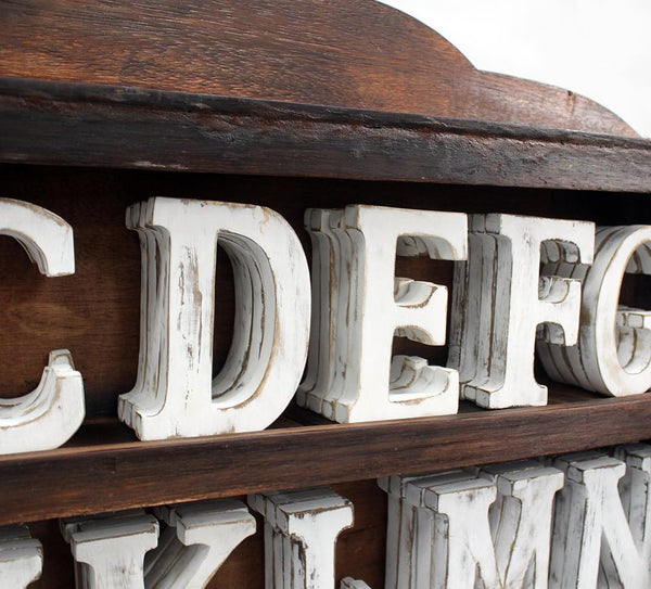 White Distressed Letters - Personalise
