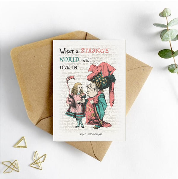 Alice in Wonderland Picture Card - What a Strange World