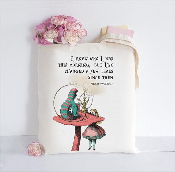 Alice in Wonderland Inspired Tote Bag - Alice
