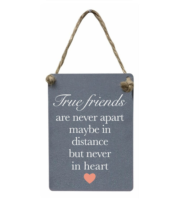 Mini Metal Sign - True Friends are never apart
