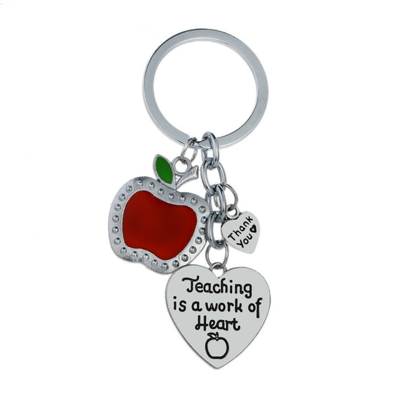 Teacher - Teaching is a work of Heart - Keyring