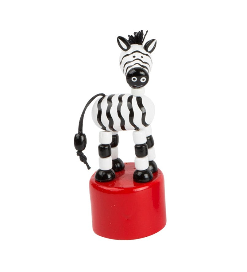 Dancing wooden zebra toy