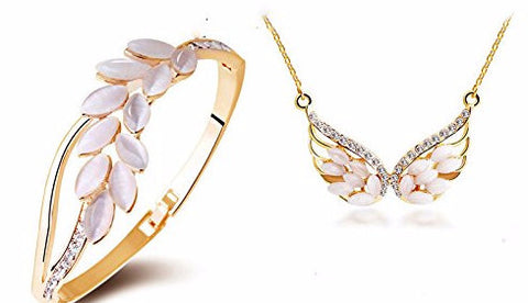 Wings On Fire Necklace & Bangle