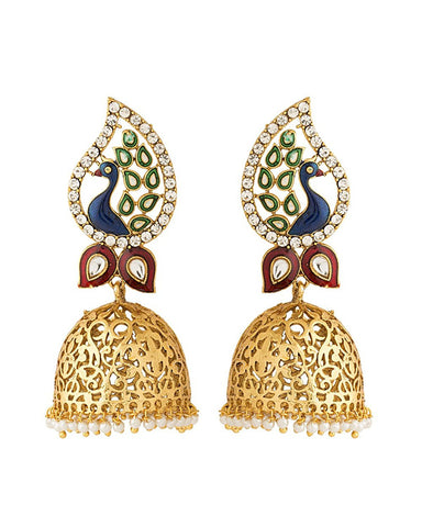 Peacock Cut Out Jhumki