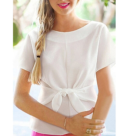 The Front Bow Top White
