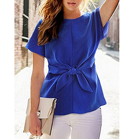 The Front Bow Top Blue