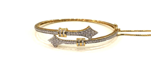 Arrow Oval Diamond Bangle