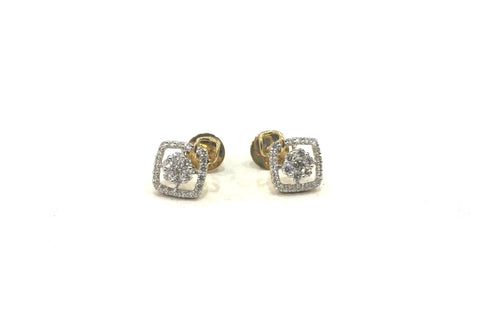 Halo Cluster Diamond Earrings