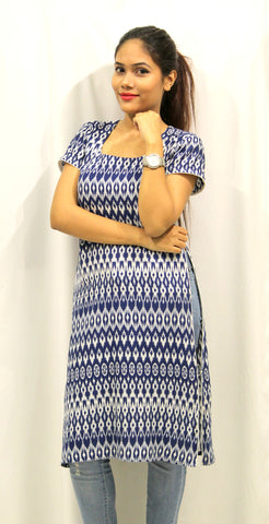 Printed Blue Kurta