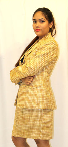Yellow Formal Suit (Blazer & Skirt)
