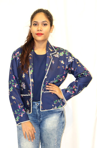 Flower Power Embroidery Jacket