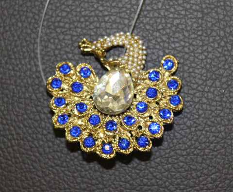 Peacock Blue Broach