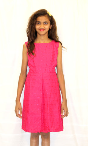 Pink Tie Back Frock