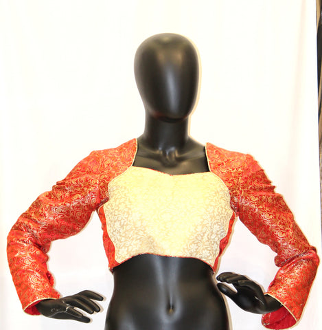 Red Gold Designer Blouse