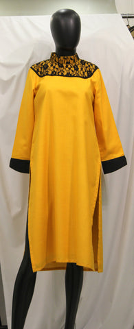 Yellow Lace Kurta