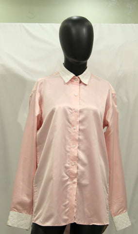 Satin Pink Formal Shirt