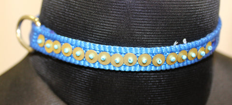 Chain Line For Cats & Toy Dogs (Blue Collar)