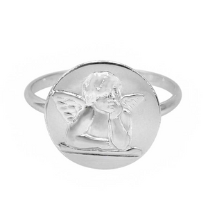 Sterling silver angle ring