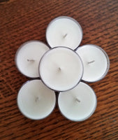 Soy Wax Tea Lights Available in a variety of scents