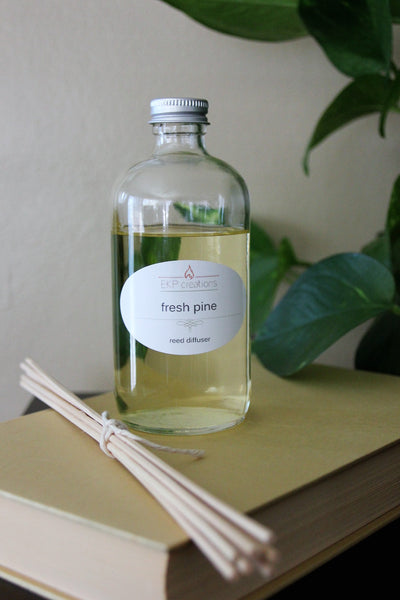 Fresh Pine Reed Diffuser 6oz with Bamboo Reeds