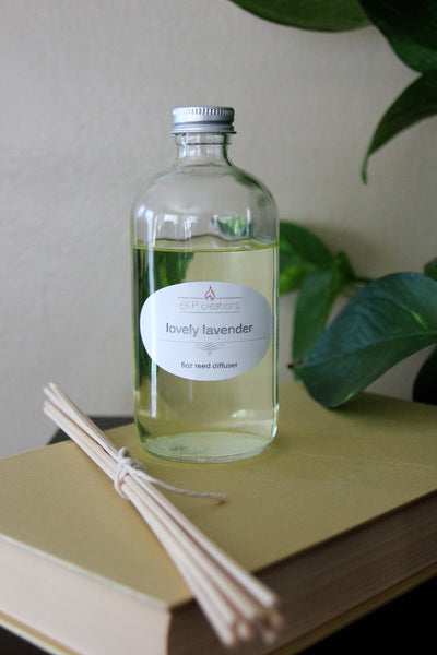 Lovely Lavender Reed Diffuser 6oz with Bamboo Reeds