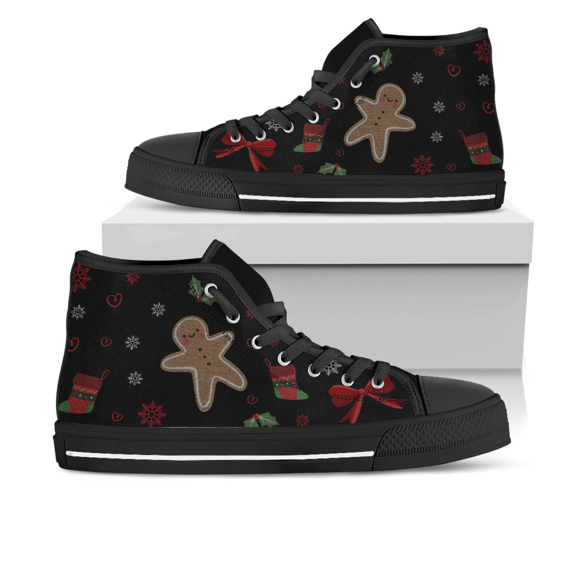 Gingerbread Man Ugly Christmas Sneakers
